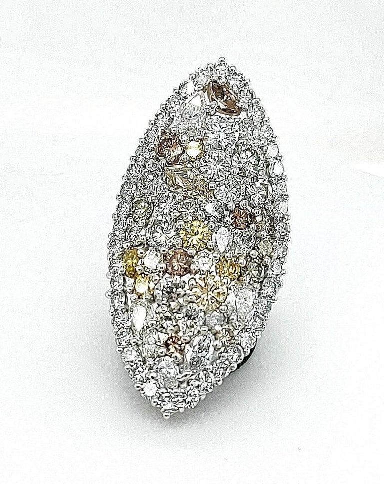 Women's or Men's 29.99 Carat Diamond, 18 Karat White Gold, Earrings, Cocktail Ring, Set For Sale