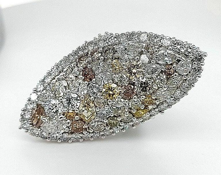 29.99 Carat Diamond, 18 Karat White Gold, Earrings, Cocktail Ring, Set For Sale 1