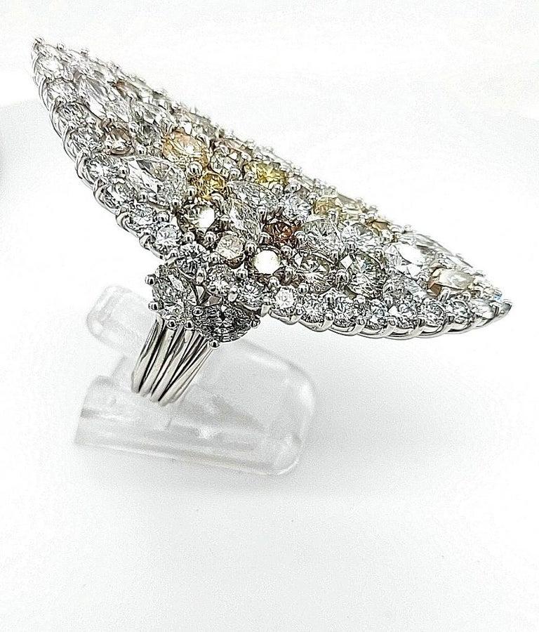 29.99 Carat Diamond, 18 Karat White Gold, Earrings, Cocktail Ring, Set For Sale 3