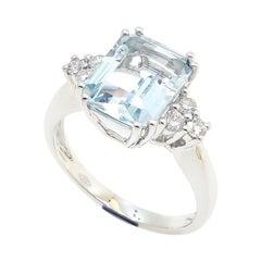 2ct Aquamarine Ring
