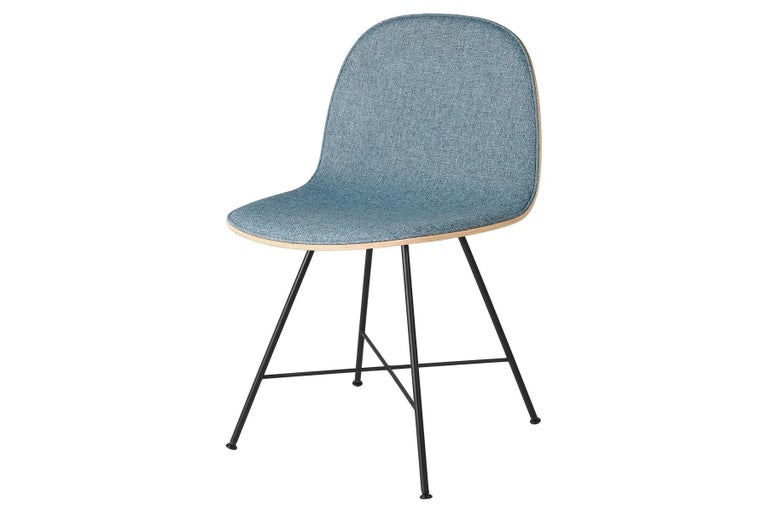 Mid-Century Modern 2D Dining Chair - Front-Upholstered - Center Base For Sale