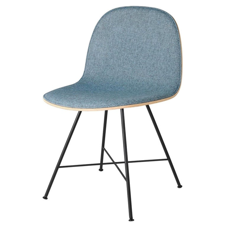 2D Dining Chair - Front-Upholstered - Center Base For Sale
