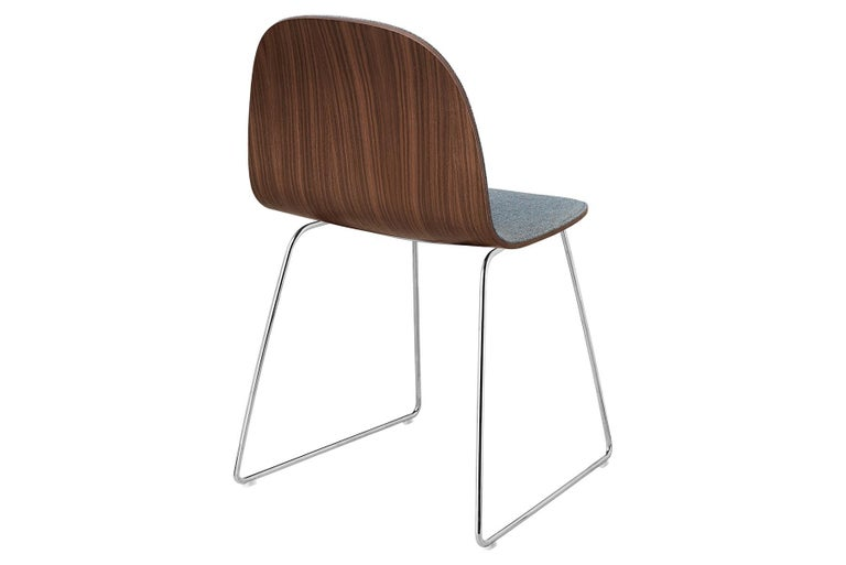 Danish 2D Dining Chair - Front-Upholstered - Sledge Base For Sale