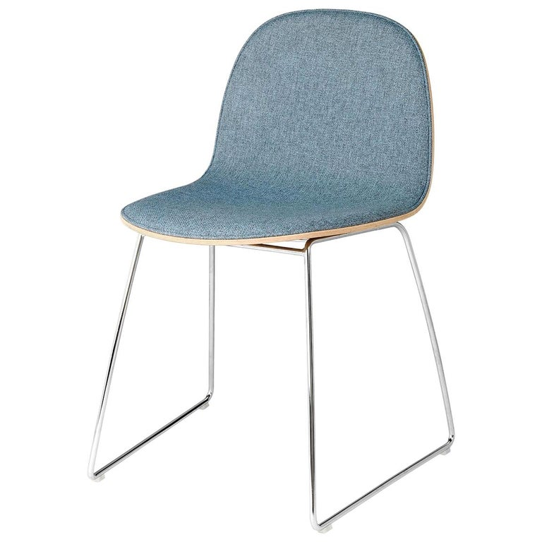2D Dining Chair - Front-Upholstered - Sledge Base For Sale