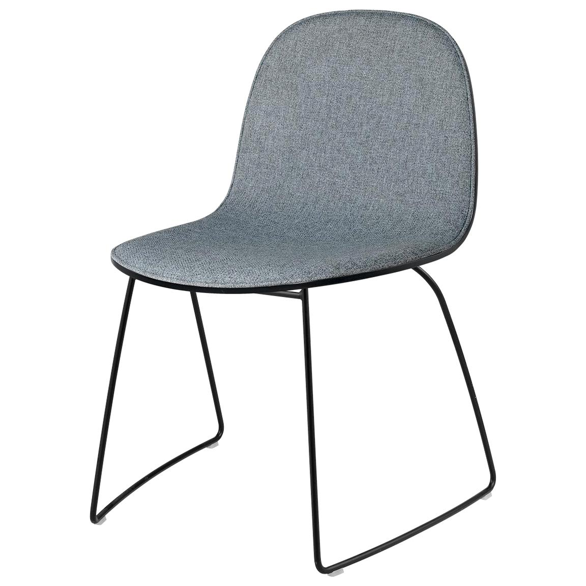 2D Dining Chair - Front-Upholstered - Sledge Base - Stackable