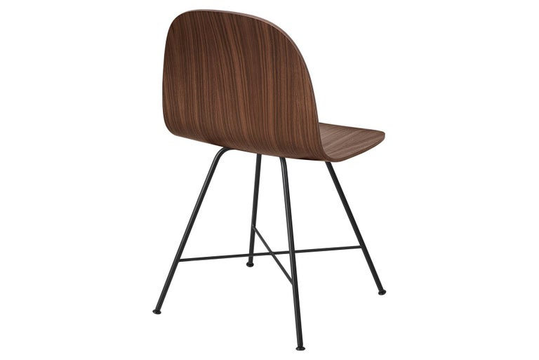 Danish 2D Dining Chair, Un-Upholstered, Center Base  For Sale