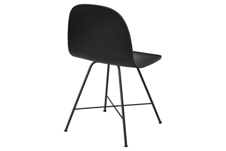 2D Dining Chair, Un-Upholstered, Center Base  In New Condition For Sale In Berkeley, CA