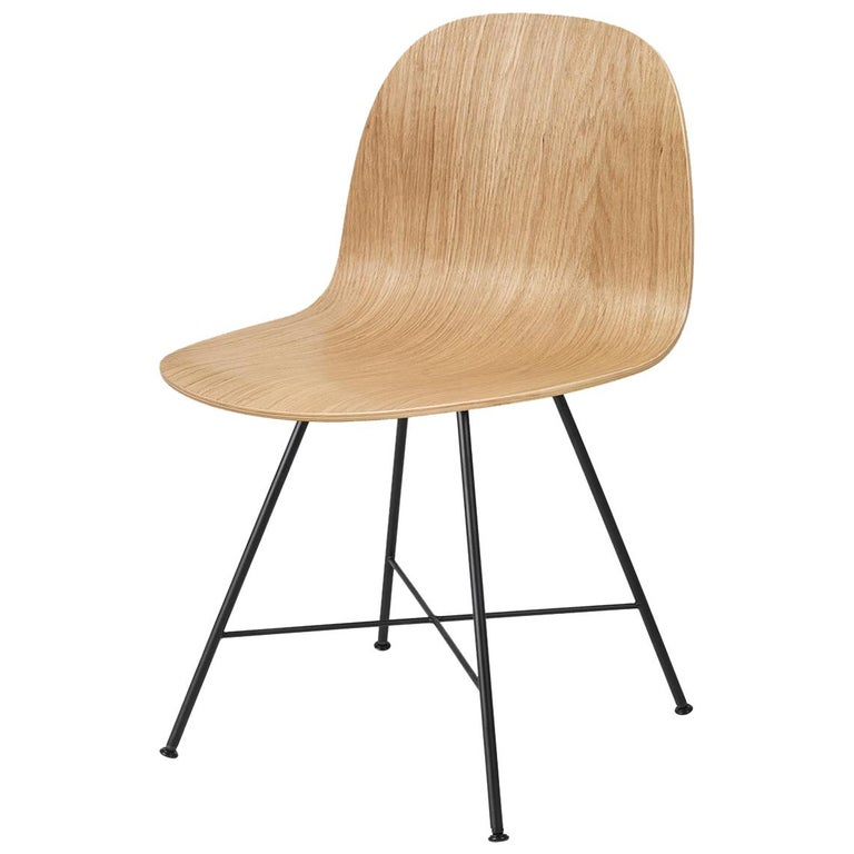 2D Dining Chair, Un-Upholstered, Center Base  For Sale