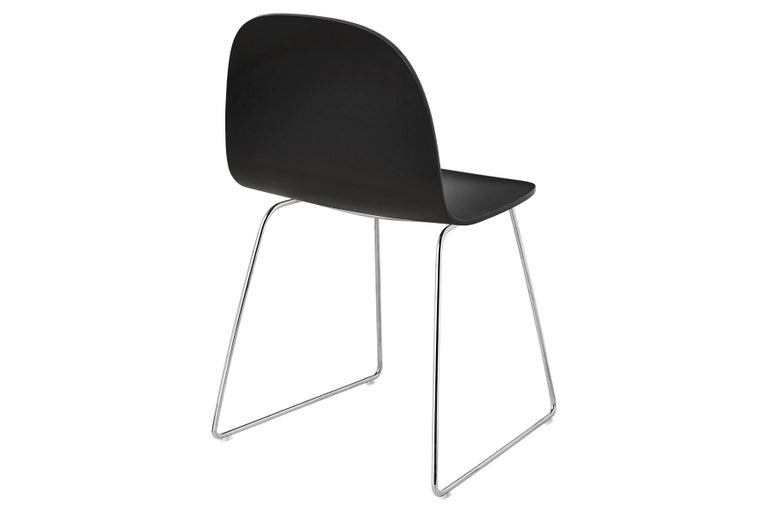 2D Dining Chair, Un-Upholstered, Sledge Base  For Sale 2