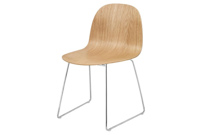 2D Dining Chair, Un-Upholstered, Sledge Base  For Sale 3