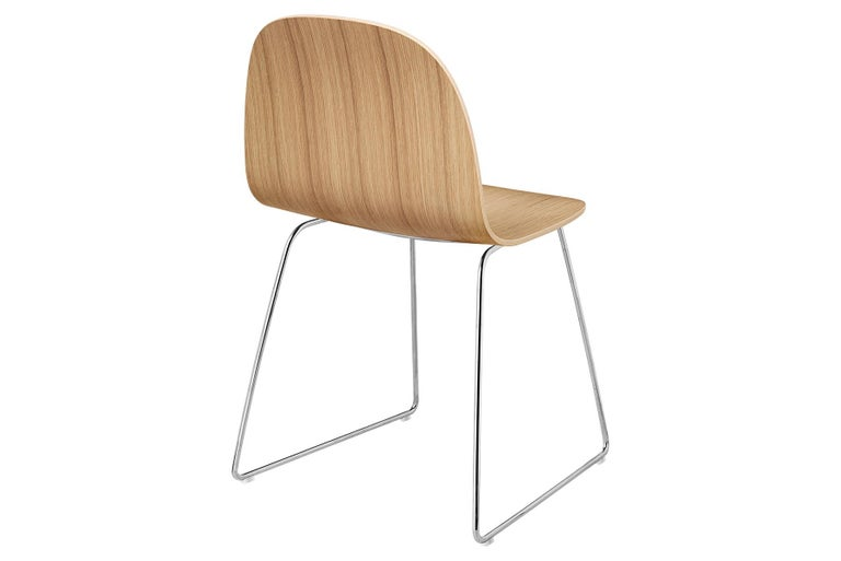 2D Dining Chair, Un-Upholstered, Sledge Base  For Sale 4