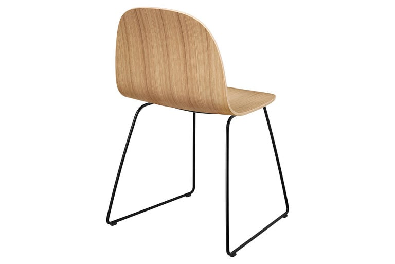 2D Dining Chair, Un-Upholstered, Sledge Base  In New Condition For Sale In Berkeley, CA