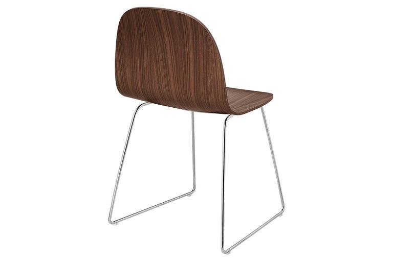 Metal 2D Dining Chair, Un-Upholstered, Sledge Base  For Sale