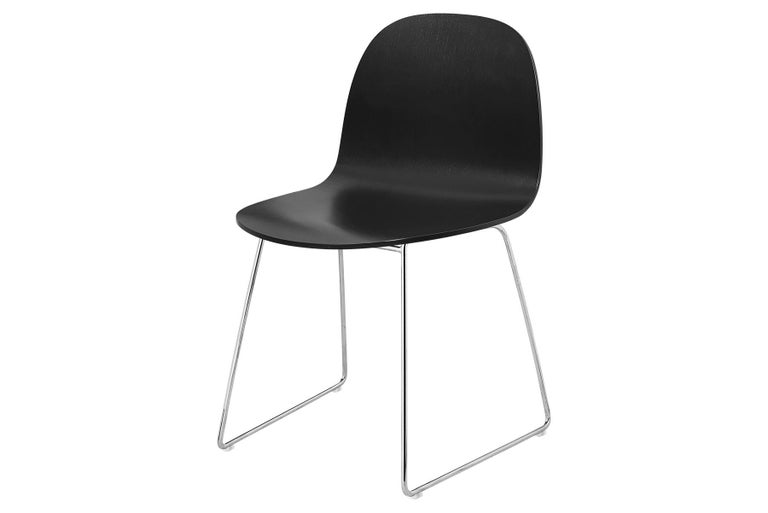 2D Dining Chair, Un-Upholstered, Sledge Base  For Sale 1