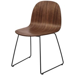 2D Dining Chair, Un-Upholstered, Sledge Base