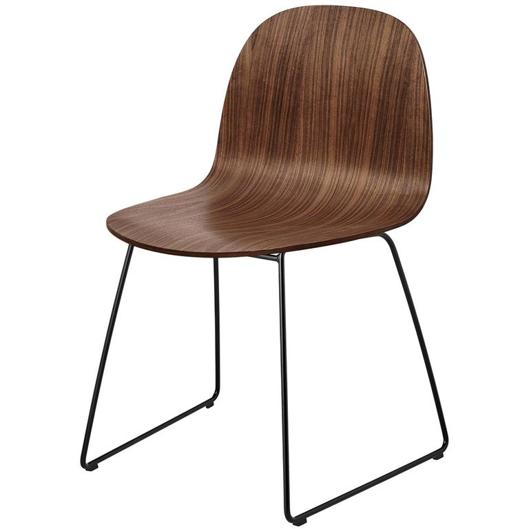 2D Dining Chair, Un-Upholstered, Sledge Base  For Sale