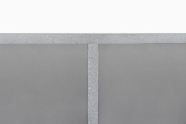 American 2G Shelf XS Wall-Mounted Entry Shelf in Waxed Aluminum Plate by Jonathan Nesci For Sale