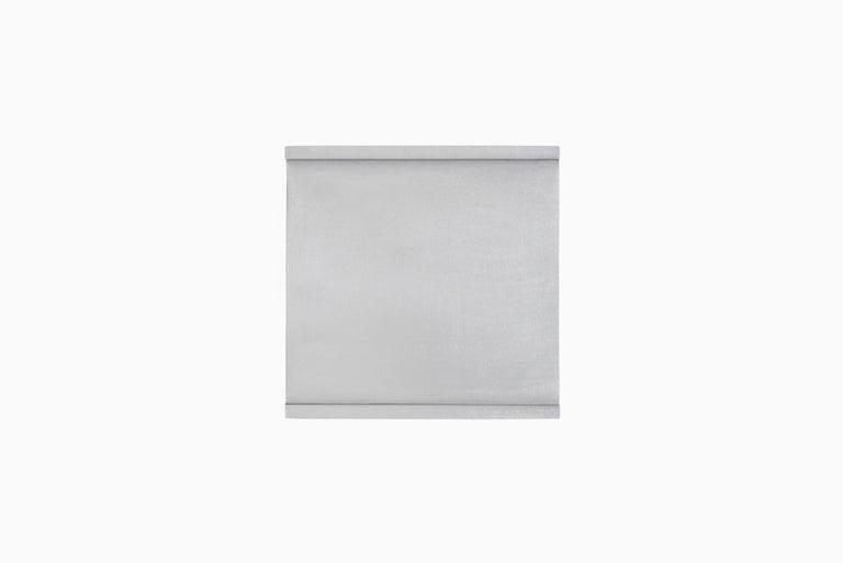 Welded 2G Shelf XS Wall-Mounted Entry Shelf in Waxed Aluminum Plate by Jonathan Nesci For Sale