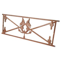 Second Half of the 19th Century French Cast Iron Fencing with Dragons