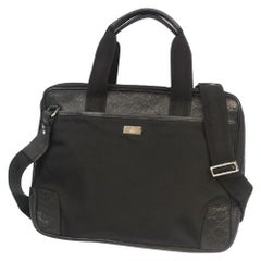 2WAY  Mens  business bag 162793  black Leather