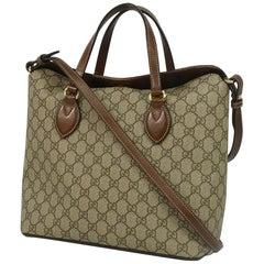 2WAY  shoulder  Womens  handbag 429147  beige x brown Leather