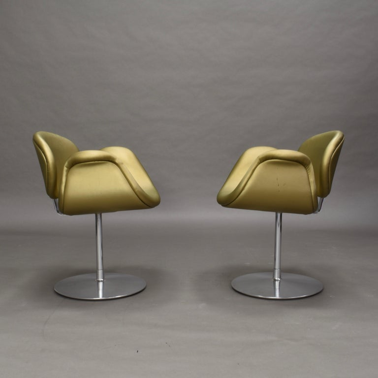 Mid-Century Modern 2 Limited Edition Pierre Paulin Tulip Swivel Armchairs for Artifort, 1965 For Sale
