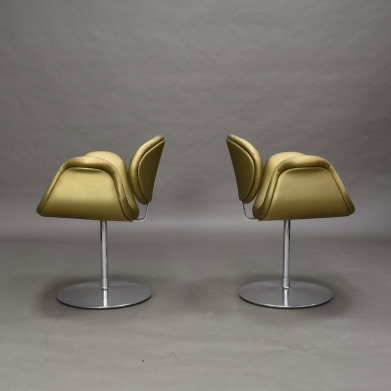 Dutch 2 Limited Edition Pierre Paulin Tulip Swivel Armchairs for Artifort, 1965 For Sale