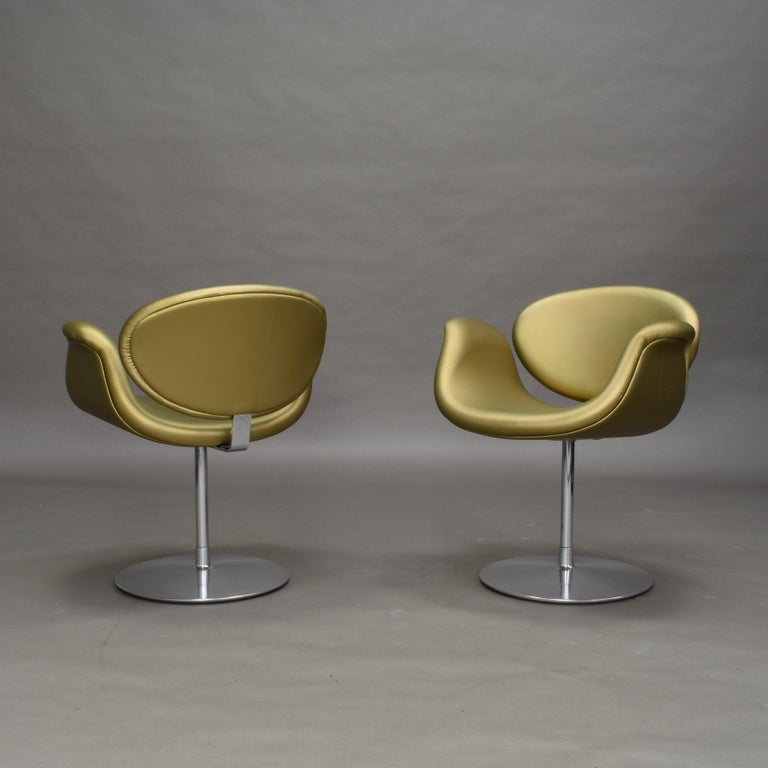 Mid-20th Century 2 Limited Edition Pierre Paulin Tulip Swivel Armchairs for Artifort, 1965 For Sale
