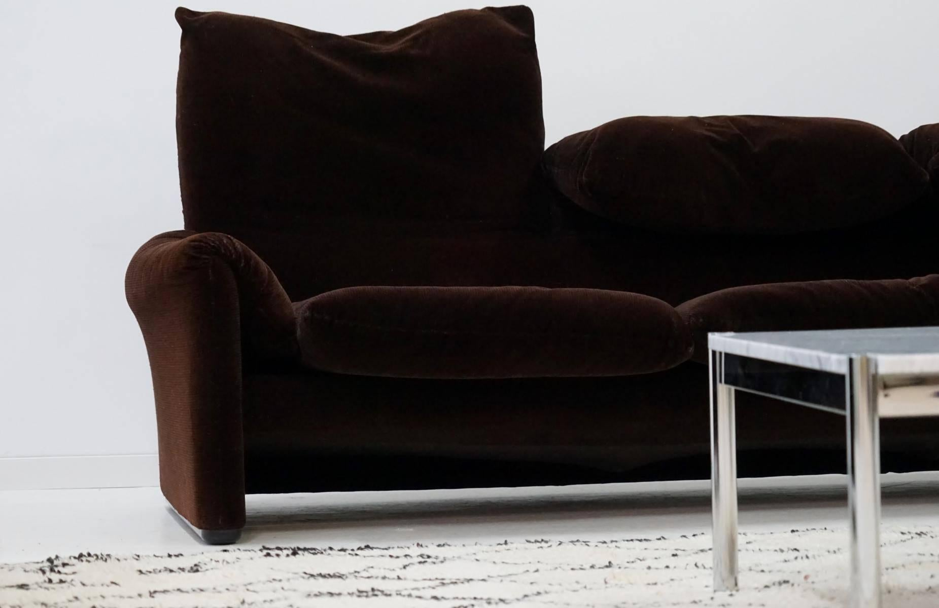 Three And Two Seat Maralunga For Cina Design Function Canapé Couch At 1stdibs