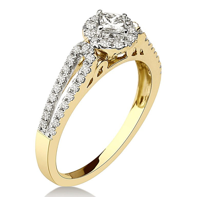 Make a statement with this stunning piece of jewelry. Each certified diamond is carefully set. All high quality and ethically sourced diamonds are IGI Certified. Cttw : 0.70 cttw Kt : 14Kt Stone Clarity :  GH/i2-I3