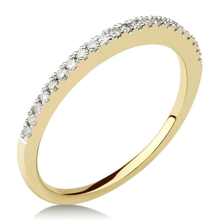 Round Cut 3/4 Carat Certified Diamond Engagement Ring 14 Karat Yellow Gold For Sale