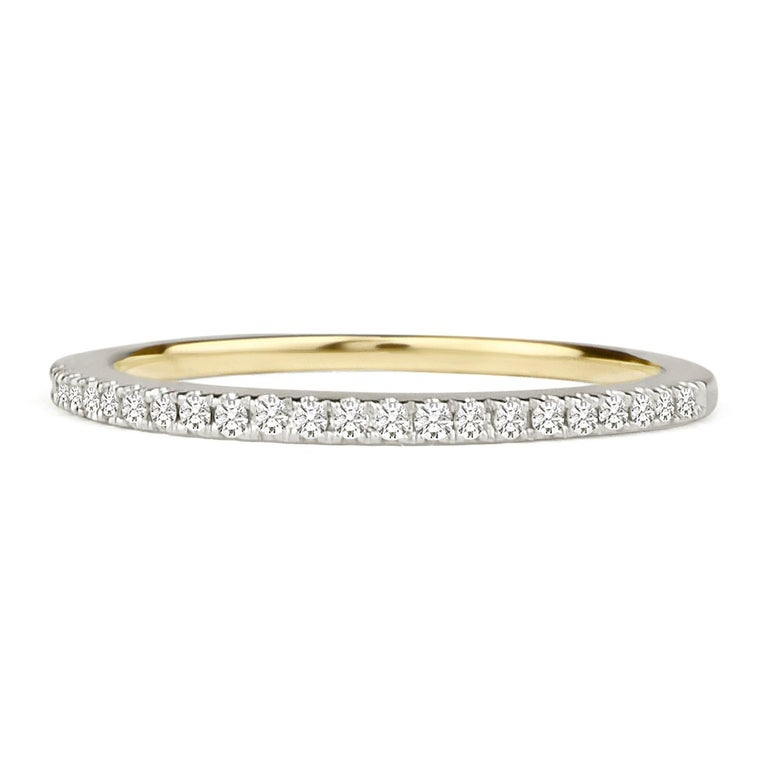 3/4 Carat Certified Diamond Engagement Ring 14 Karat Yellow Gold In New Condition For Sale In NEW YORK, NY