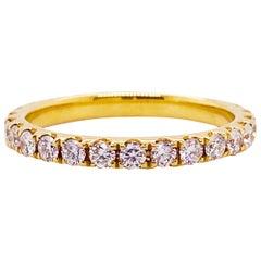 3/4 Carat Round Brilliant Diamond Eternity Band in 18 Karat Gold, 0.75 Carat
