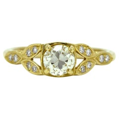 3/4 Carat Round Diamond Solitaire Engagement Ring 14 Karat Gold EGL Certified