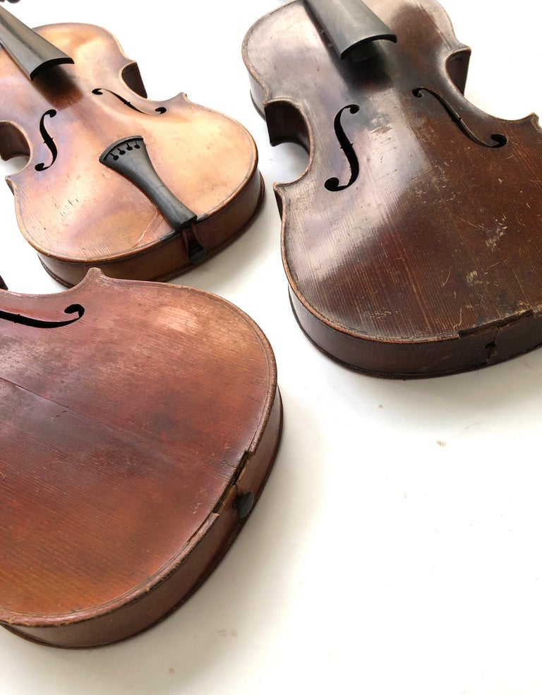 Hand-Crafted 3 Antique Violins For Sale