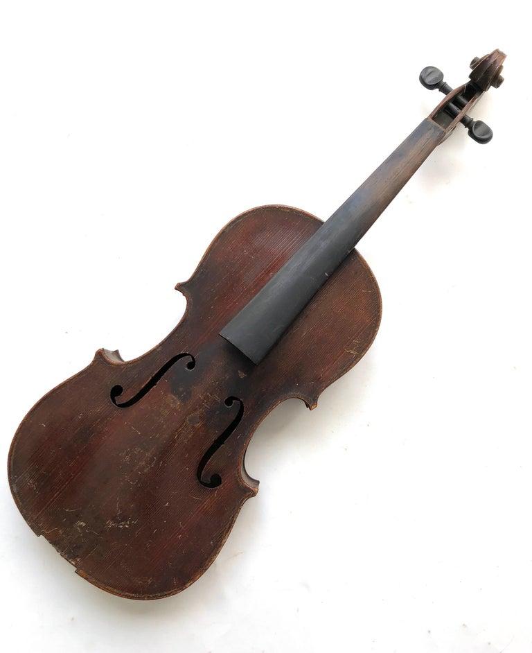 Wood 3 Antique Violins For Sale