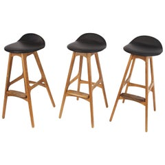 3 Barstools OD, 61 by Erik Buch for Odense Mobelfabrik