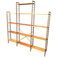 3-Bay Ladderax Teak Midcentury Bookcase Shelving by Robert Heal for Staples