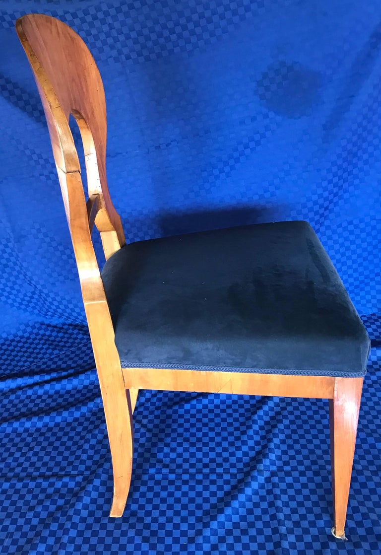 Veneer Three Biedermeier Chairs, Germany 1820-1830 For Sale