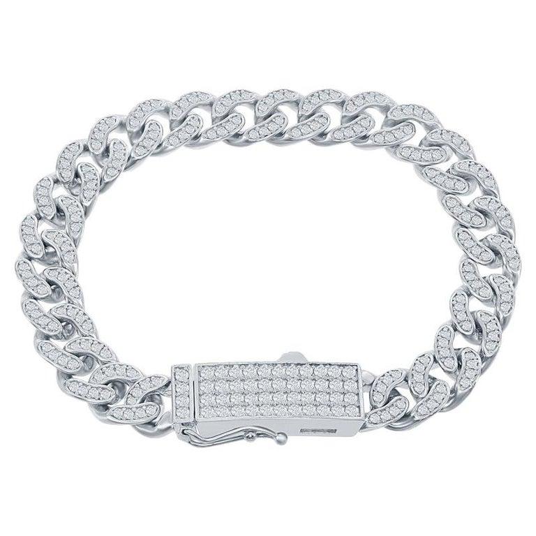 3 Carat Cuban Diamond Link Bracelet For Sale
