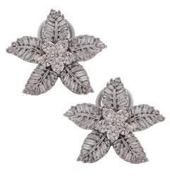 3 Carat Diamond and White Gold Earrings