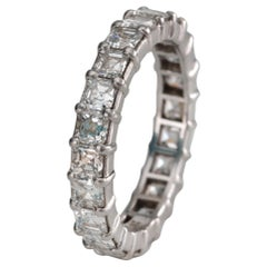 3 Carat Diamond Asscher Cut Platinum Eternity Band