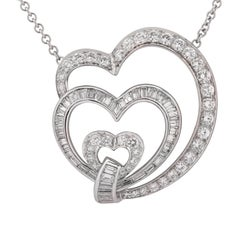 3 Karat Diamant Herz Halskette