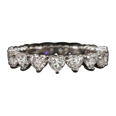 3 Carat Eternity Wedding Band Heart Shape Diamond Ring
