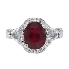 3 Carat Glass Filled Ruby Ring