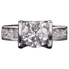 3 Carat Ideal Cut Round Natural Diamond Cocktail Ring