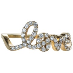 .3 Carat Love Diamond Ring, 14 Karat Gold