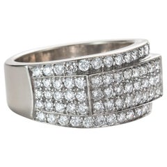 3 Carat Multi Row Diamond Ring, 14 Karat Gold