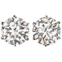 3 Carat Natural Diamond Stud Earrings