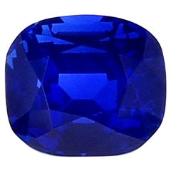 3 Carat Natural No Heat Cornflower Blue Cushion Kashmir Sapphire
